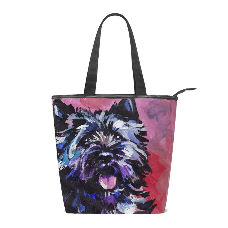 Women Canvas Handbag Modern Dog Purse Shoulder Bag Messenger Bag Mom Bag for Women
