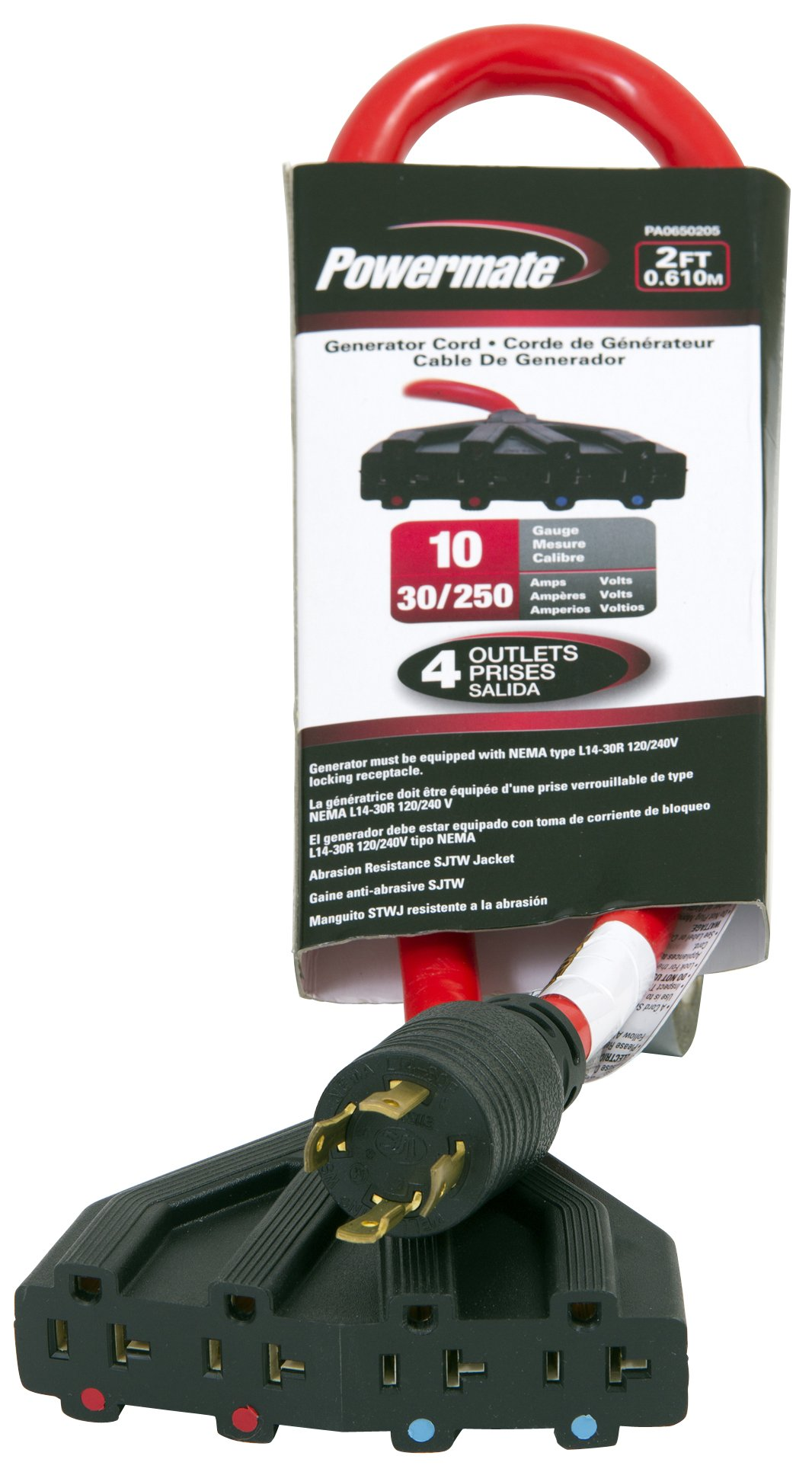 Powermate PA0650205 30-Amp Generator Cord, 2-Feet by Powermate