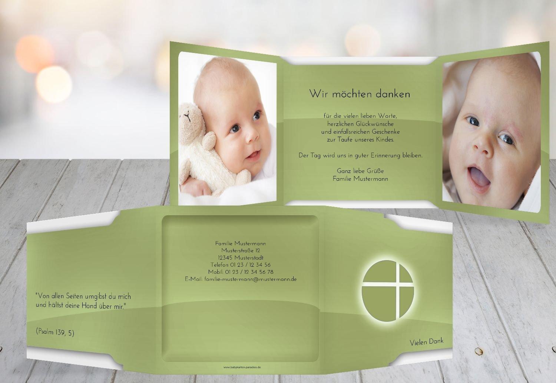 Kartenparadies Dankeskarte Taufe Taufe Dankeskarte Spiegelung, hochwertige Danksagung für Taufgeschenke inklusive Umschläge   10 Karten - (Format  145x145 mm) Farbe  BeigeOrange B01MTF03OV | Ausgezeichnetes Preis  | Elegante Und Stabile Verpack