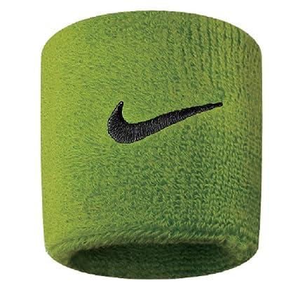 c2c9040a683 Amazon.com  Nike Swoosh Wristbands (Atomic Green Black