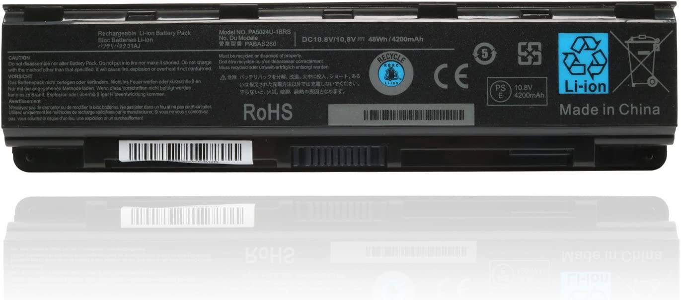 10.8V 48WH PA5024U-1BRS Battery Replace for Toshiba Satellite C55-A C55T C855 C855D L855 L875 S855 P855 Series C55-A5300 P855-S5312 PA5109U-1BRS Laptop