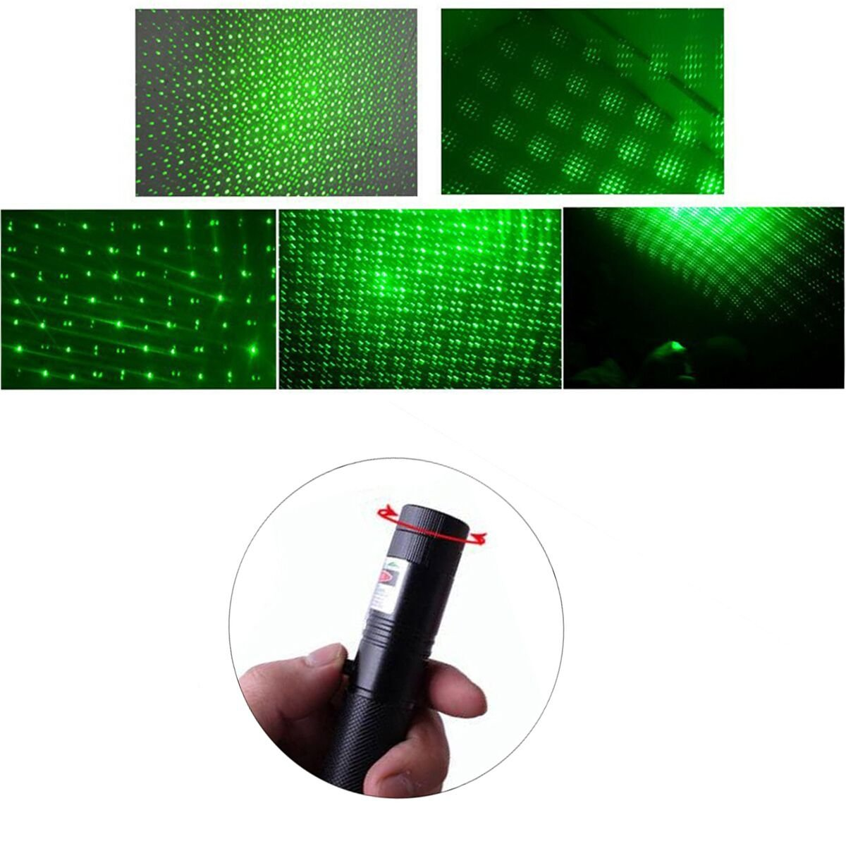 Vooa Tactical Green Hunting Rifle Scope Sight Laser Pen Theus Pointer Sports Outdoors