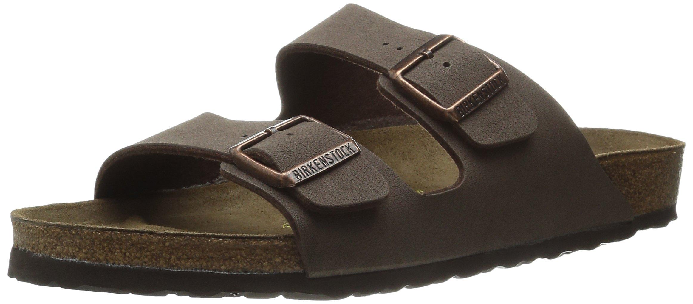 Birkenstock Unisex Arizona Sandal (38 M EU, Mocha Birkibuc)