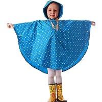 mama stadt Poncho Impermeabile Bambini,Unisex Mantella Pioggia Incappucciati con Borsa 90-120cm