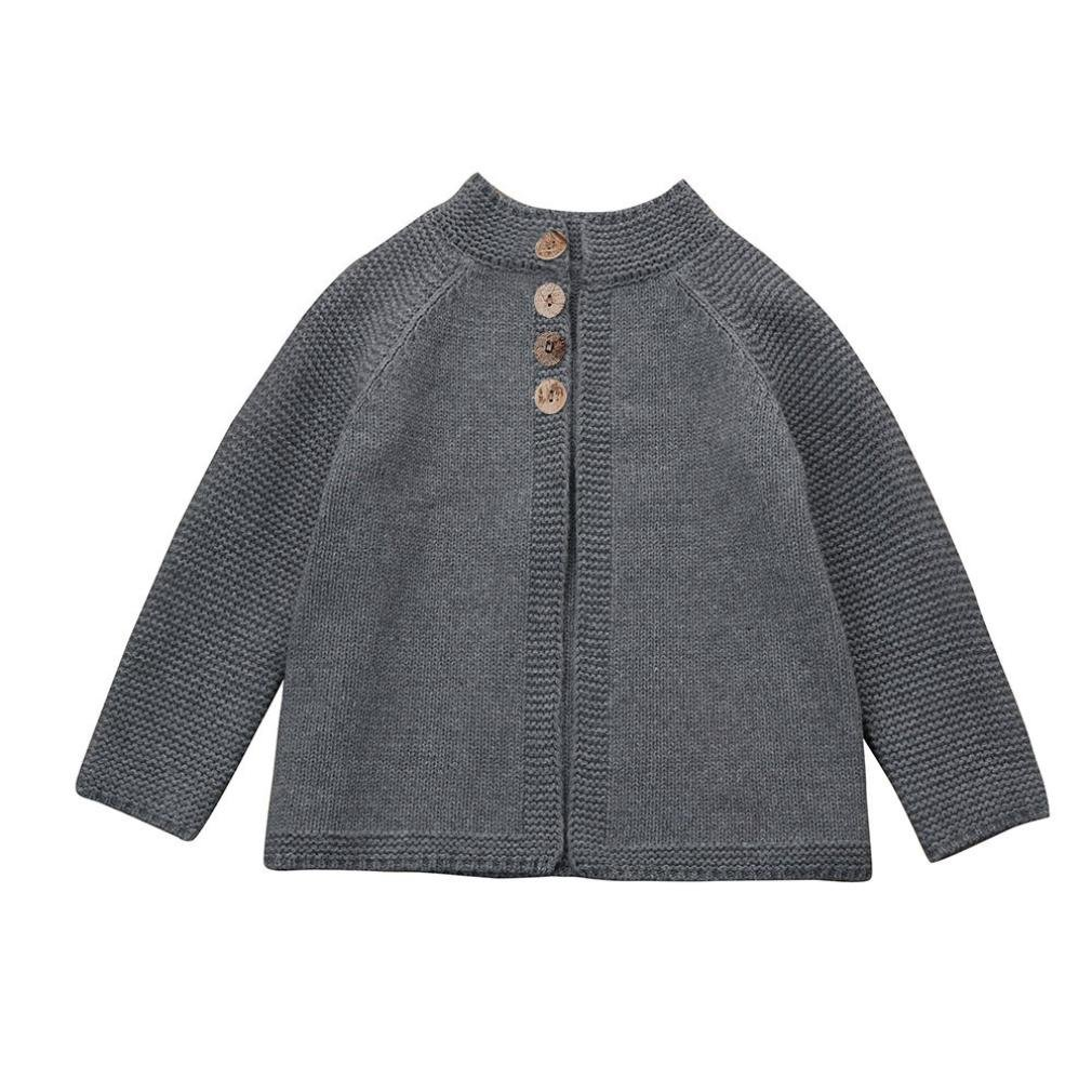 Cute Baby Girls Clothes Button Knit Cardigan Sweaters Fall Winter Clothing