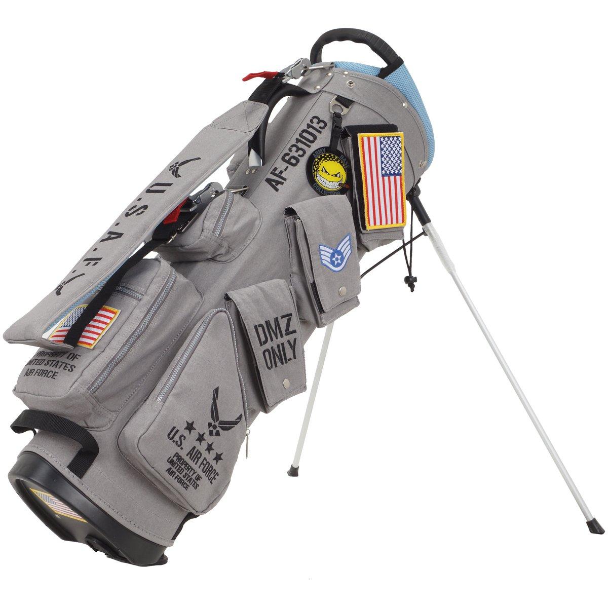 アーミーベースコレクション キャディバッグ U.S AIR FORCE スタンドバッグ ABC-021SB グレー [ABC021SB] B076BK1NKC
