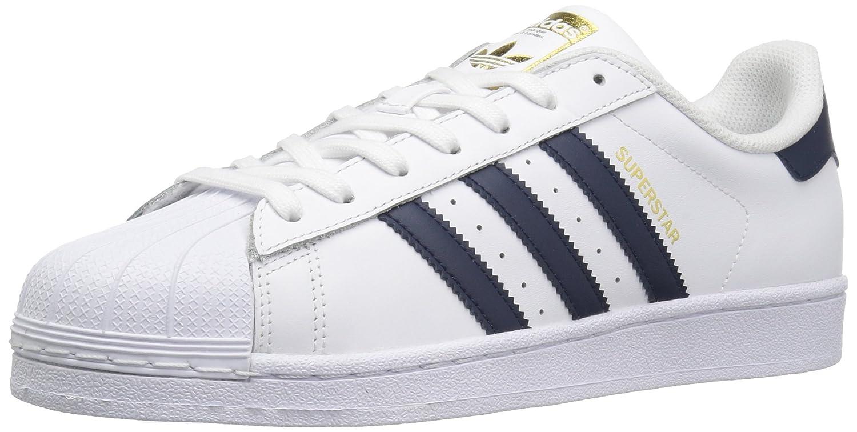 adidas Originals Men's Superstar Shoes B01HNB7CEK 13 M US|White/Collegiate Navy/Metallic/Gold