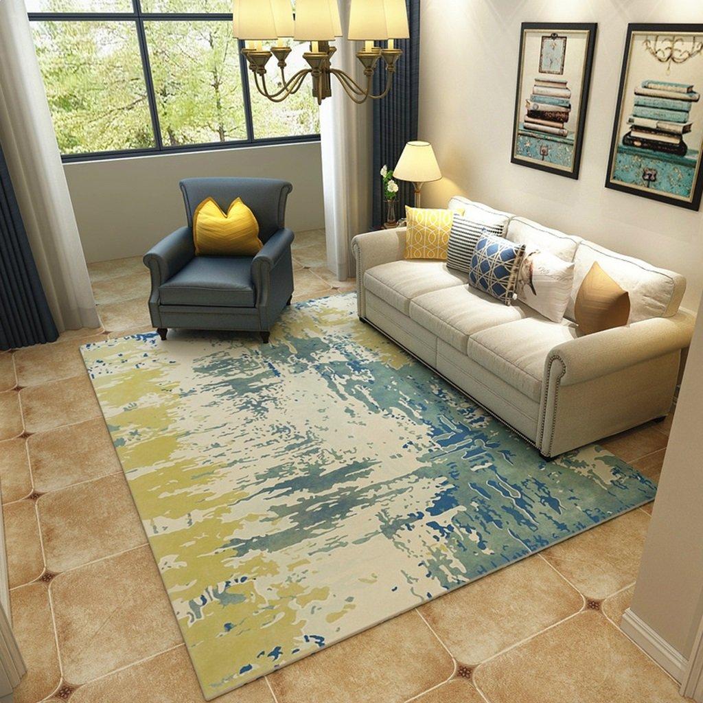 長方形のカーペット、aquarelleパターン、ベッドルームのリビングルームのコーヒーテーブルソファ、家庭用長方形のカーペット(120センチ* 160センチメートル)   B07B4QWPCD
