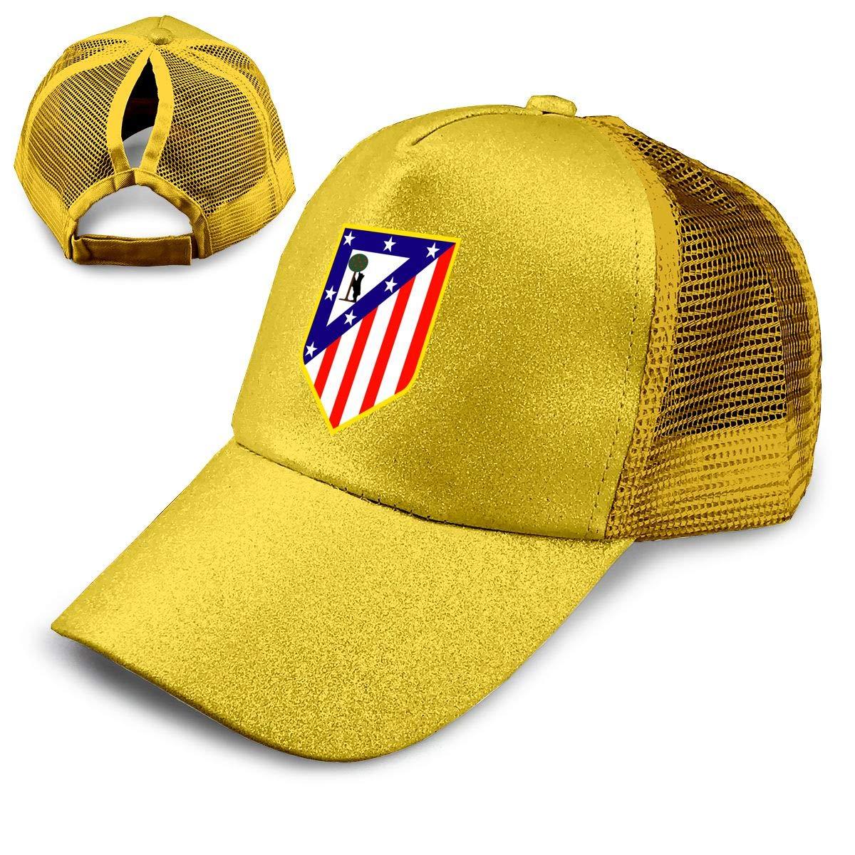 Niuniussa Atletico Madrid Gorra de béisbol de Malla con Logo de ...
