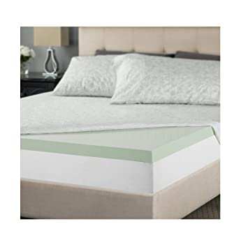 Zinus - Colchón de Espuma viscoelástica Verde, 5 cm, 2 Inch, Matrimonio Doble: Amazon.es: Hogar