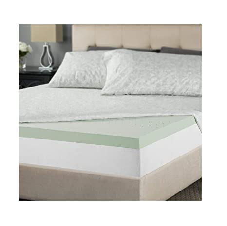 Amazon Com Zinus 2 Inch Green Tea Memory Foam Mattress Topper