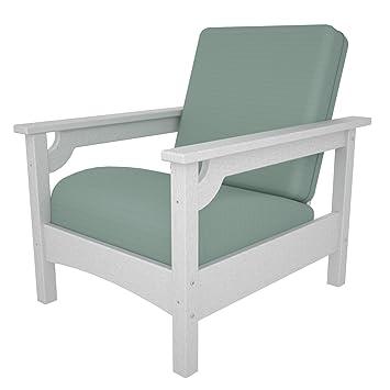 POLYWOOD PWCLC23WH 5413 Club Chair, White/Spa