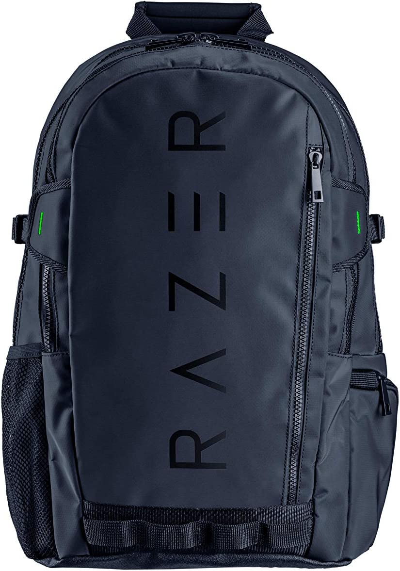 "Razer Rogue v2 15.6"" Gaming Laptop Backpack: Tear and Water Resistant Exterior - Mesh Side Pocket for Water Bottles - Dedicated Laptop Compartment - Made to Fit 15 inch Laptops"