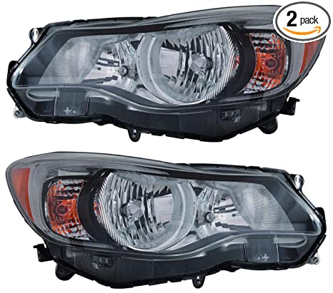 For 2012 2013 Subaru Impreza Sedan Wagon Xv Crosstrek Headlights Headlamps Assembly Driver Left And Passenger Right Side Pair Set Replacement