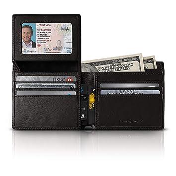 03ef951a6616 RFID Blocking Leather Wallets For Men, Black