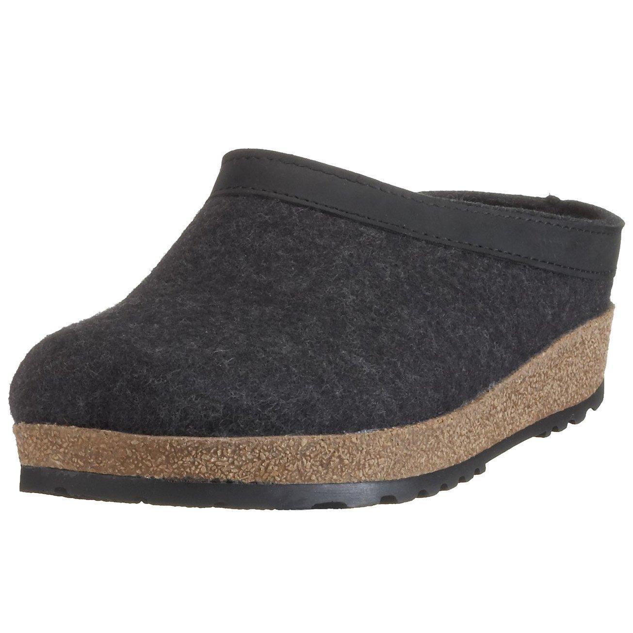 Haflinger 713001_unisex, Pantofole non imbottite Unisex adulto Unisex – Adulto grigio