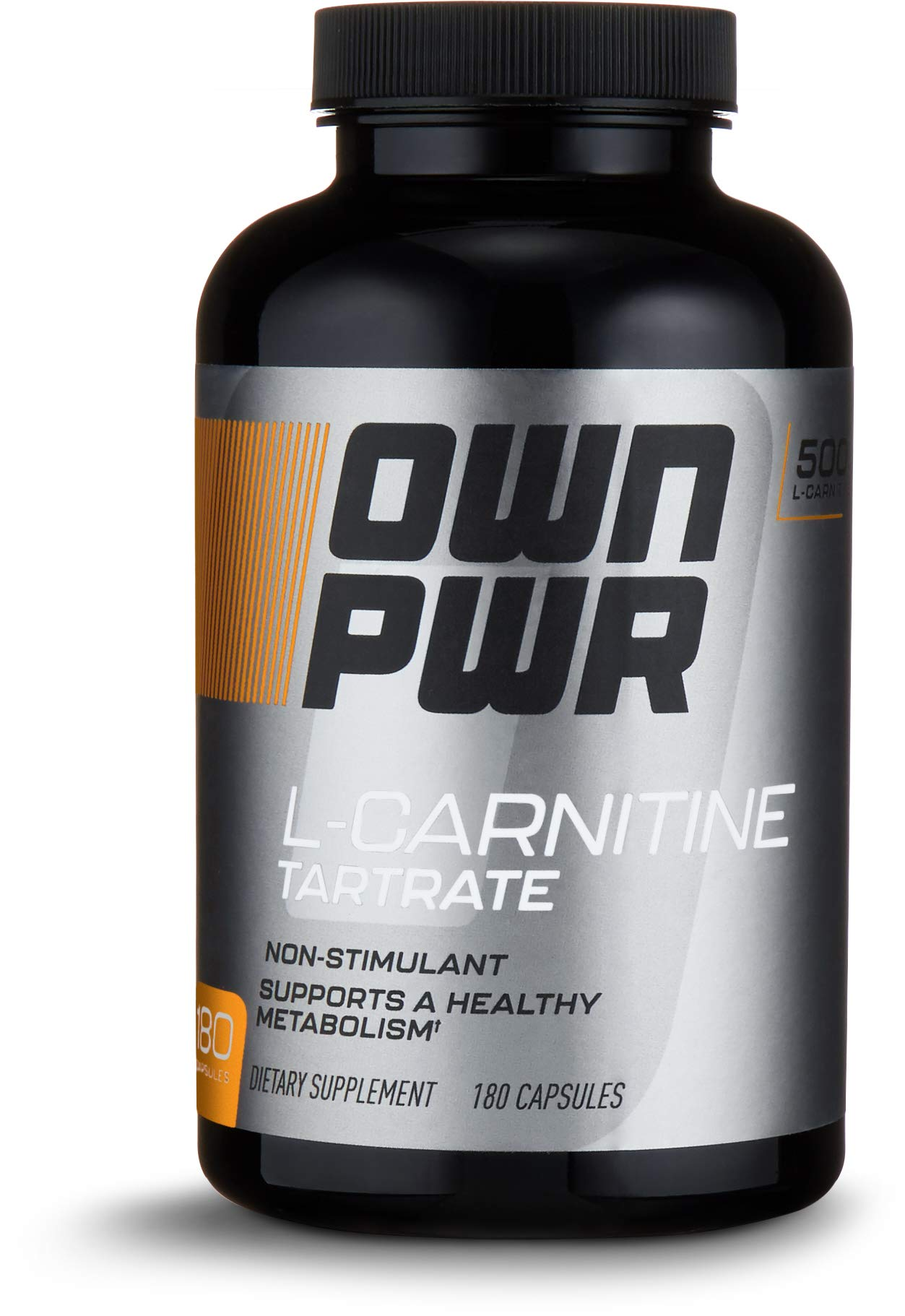 OWN PWR L-Carnitine Tartrate 500 MG, 180 Capsules, Value Size by OWN PWR