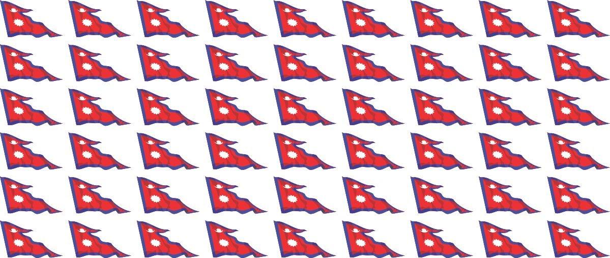 Set of 26 bandiera sventolante le bureau 4x 51x31mm+ 12x 33x20mm 10x 20x12mm- adesivi Standard pour la voiture Mini bandiere//bandiere insieme Nepal la maison et l/école