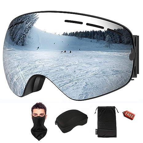 93f4afe99981 KACOOL Ski Goggles Snowboard Goggles OTG Design Snow Goggles Spherical  Detachable Lens UV Protection Anti-