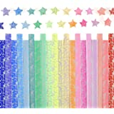 Caydo Luminous Origami Stars Papers Package 600 Sheets 20 Colors Glows In The Dark