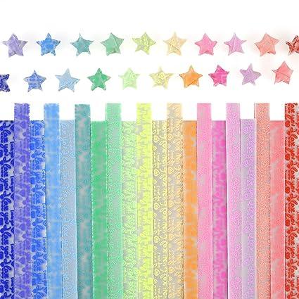 Amazon.com: caydo de papel Estrellas Origami – Tiras ...