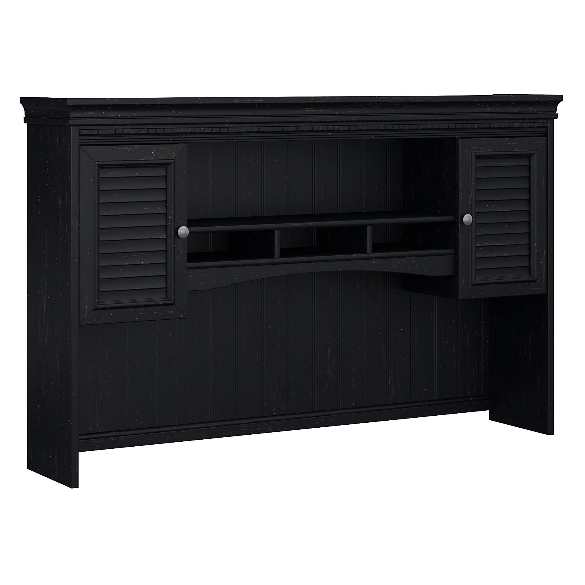 Bush Furniture Fairview Hutch for L Shaped Desk in Antique Black by Bush Furniture