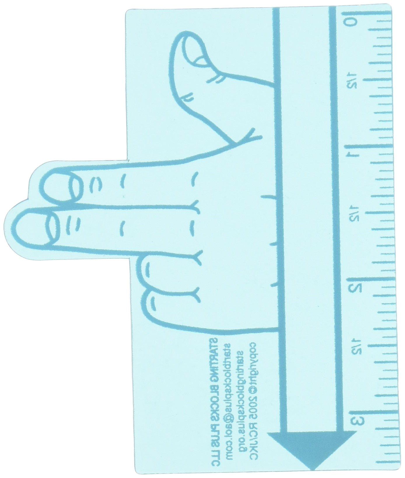 Starting Blocks Plus Two Finger Spacer Handwriting Tool, 3'' Width, Blue