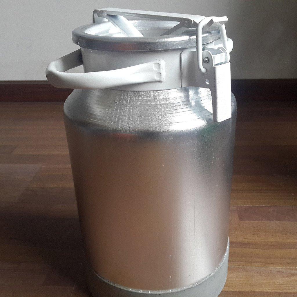Wotefusi Goat Milk Bucket Aluminum Alloy Sealed Capacity 30L Milk Water Tea Wine Liquid Collecting Storage Transport Tank Container Barrel