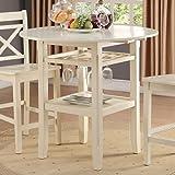 ACME Furniture 72545 Tartys Counter Height Table, Cream