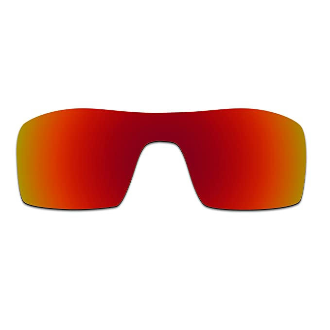 HKUCO Plus Mens Replacement Lenses For Oakley Oil Rig Sunglasses Red/Black Polarized RBl75Td03b