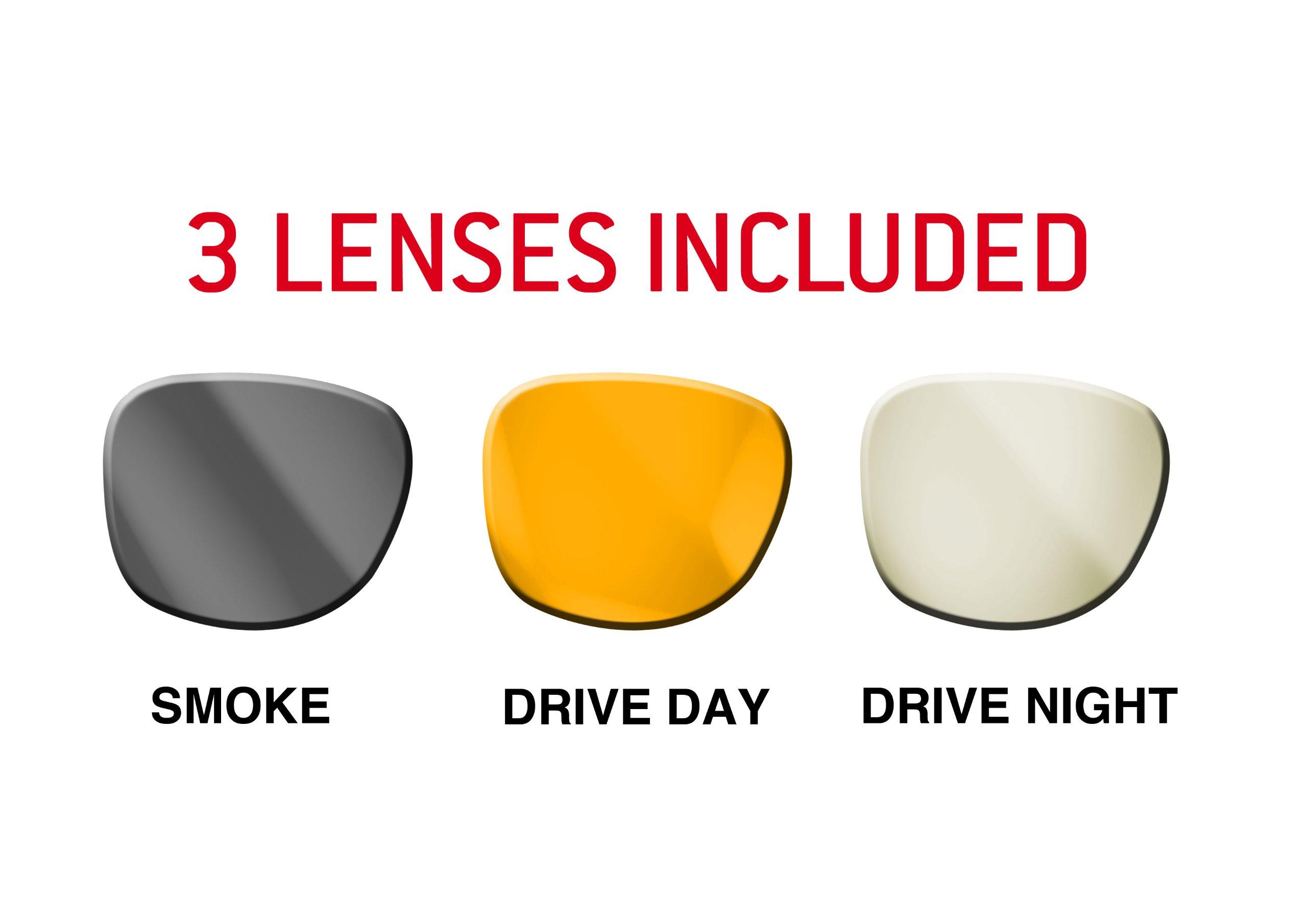 spare lenses for Bertoni '' Drive '' sunglasses line