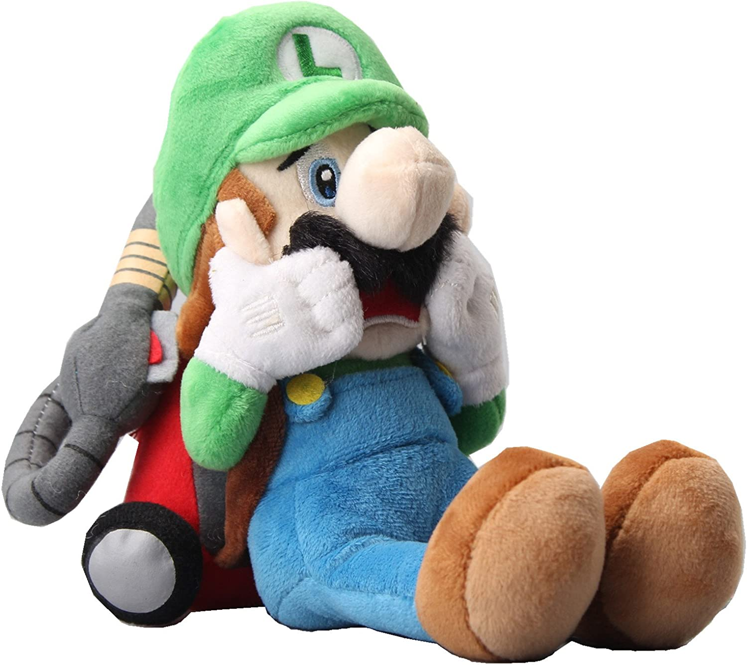 uiuoutoy Super Mario Luigi's Mansion Scared Luigi with Strobulb Plush 10""