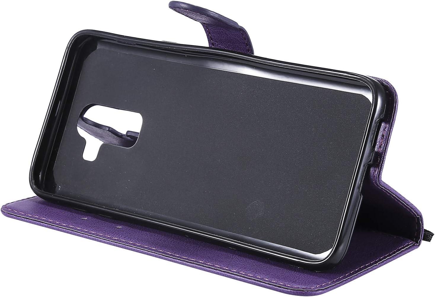 NEKTU13012 Braun NEXCURIO Samsung Galaxy J8 H/ülle Leder Handyh/ülle Tasche Leder Flip Case Brieftasche Etui mit Kartenfach Sto/ßfest Kratzfest Schutzh/ülle f/ür Samsung Galaxy J8 2018