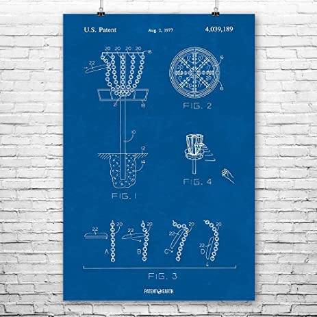 Amazon disc golf goal poster patent art print blueprint 12 x disc golf goal poster patent art print blueprint 12quot malvernweather Image collections