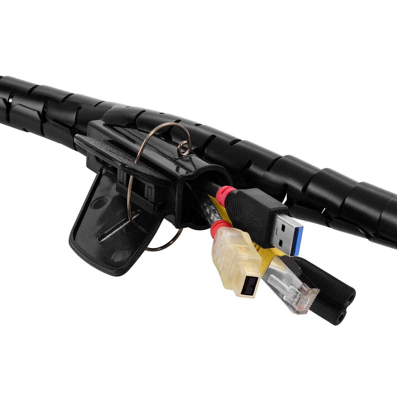 Noir TPFNet Gaine Range Cable Spirale 20 mm avec loutil 1,5 M