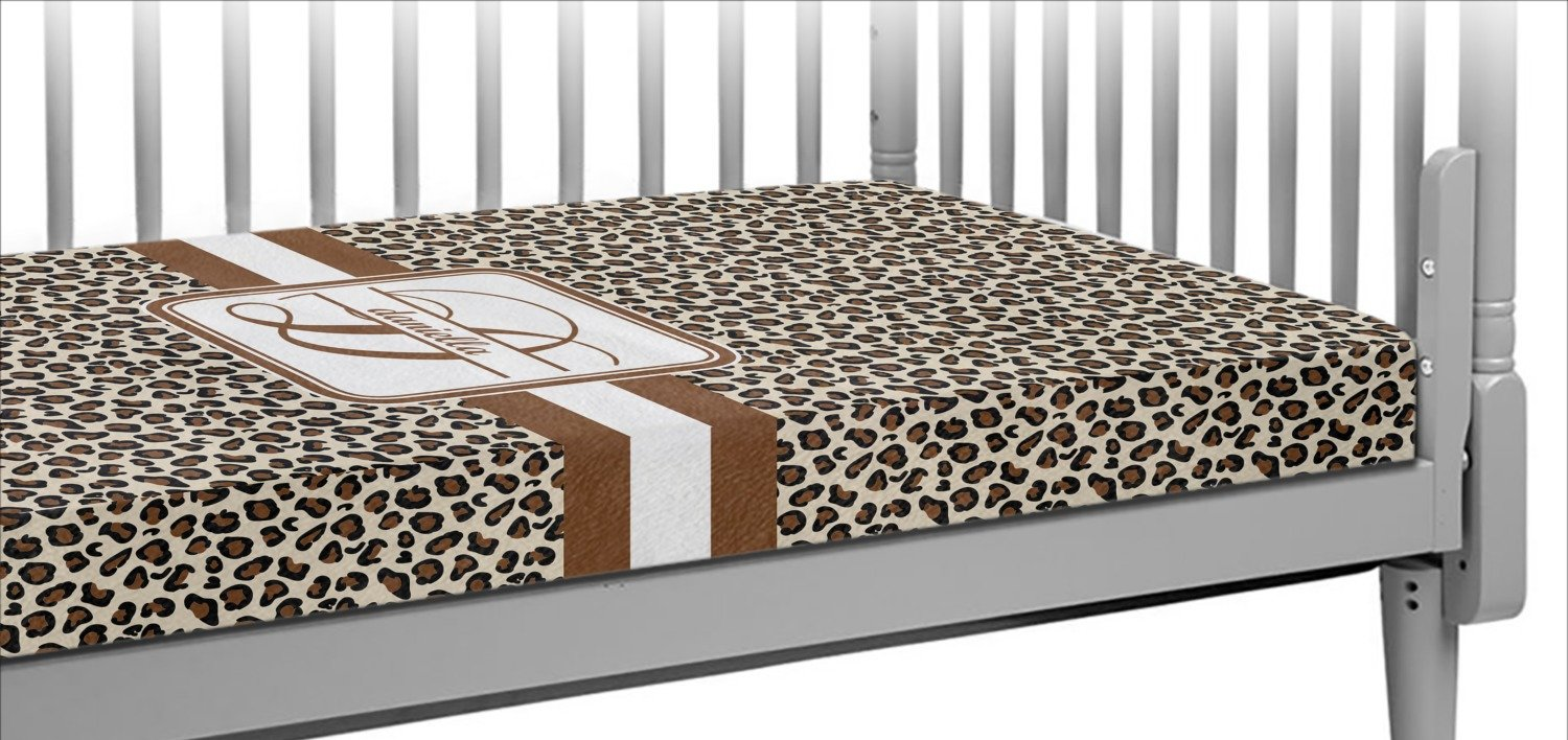Leopard Print Crib Fitted Sheet (Personalized)