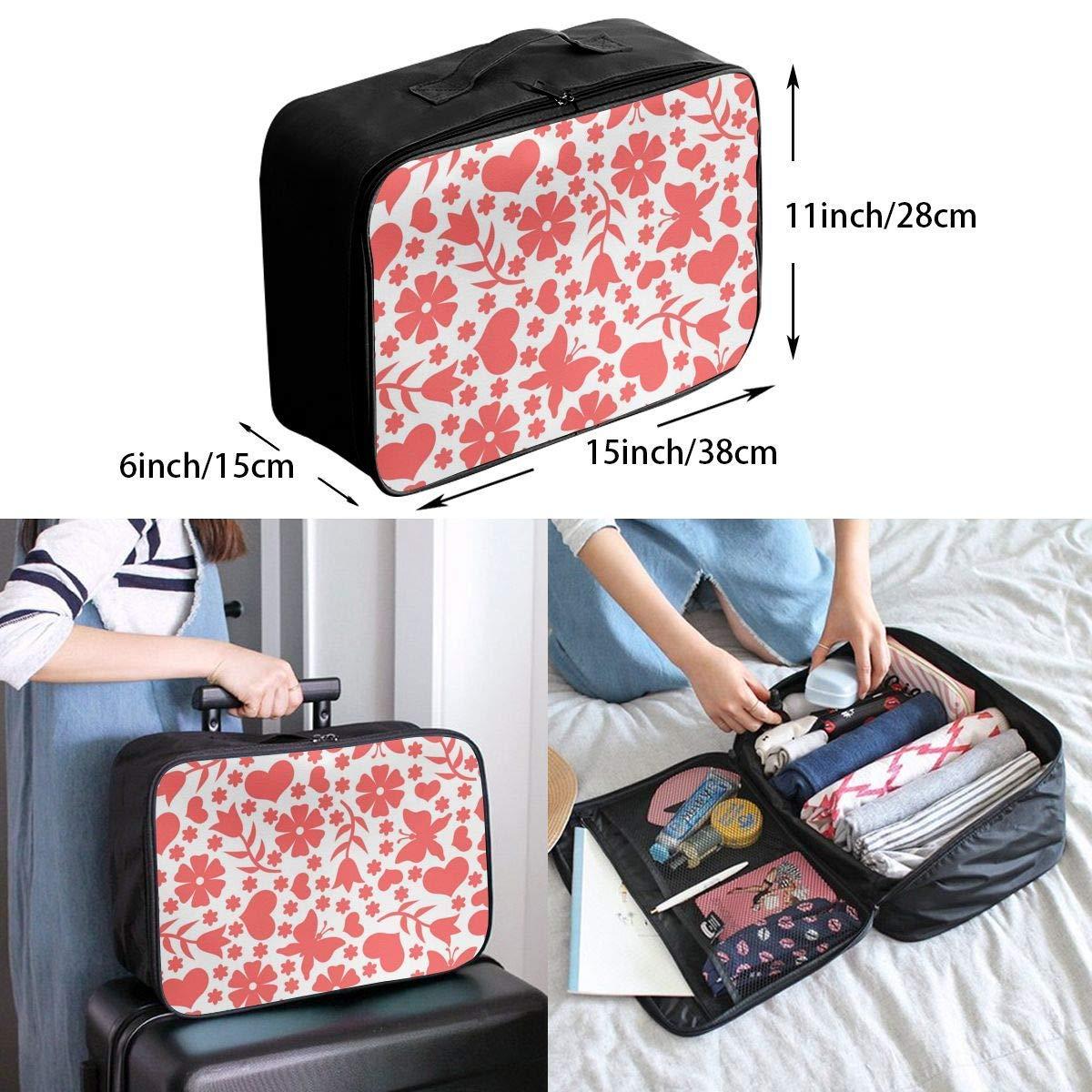 Travel Duffel Bag Waterproof Fashion Lightweight Large Capacity Portable Duffel Bag for Men /& Women JTRVW Luggage Bags for Travel Love Heart Patterns