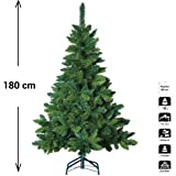 Sapin de Noël artificiel blooming VERT - Hauteur 1m80 - 622 Branches - Qualité luxe
