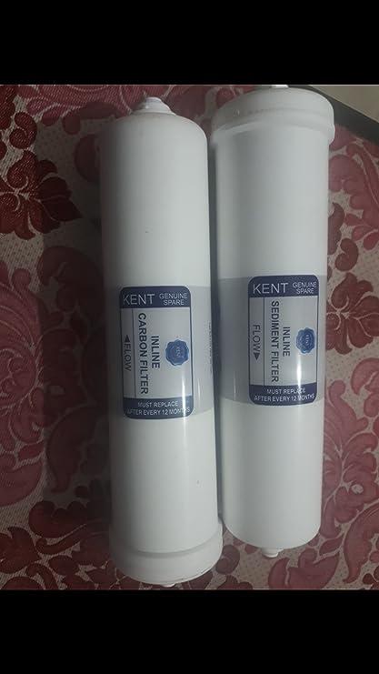 Kent 2000920010 Ro Spares: 100% Original Inline Sediment Filter & Pre Carbon Filter Set