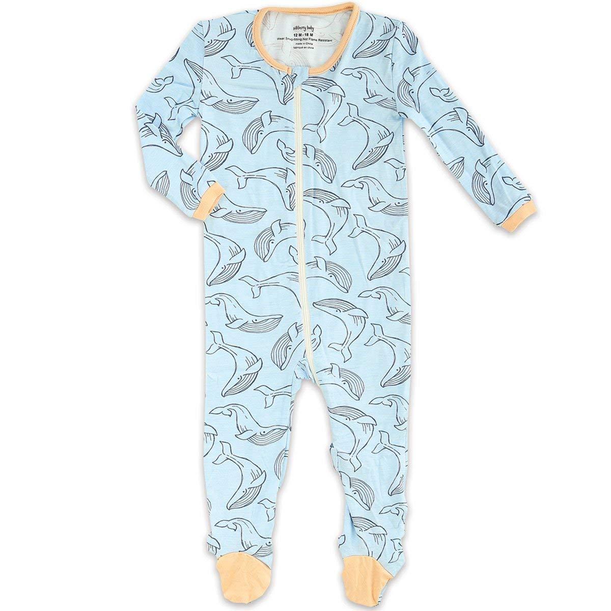 Silkberry Baby Bamboo Unisex-Baby Newborn Footie Sleeper