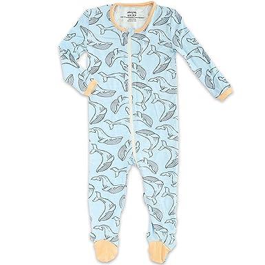 bbd0a346c Amazon.com  Silkberry Baby Bamboo Unisex-Baby Newborn Footie Sleeper ...
