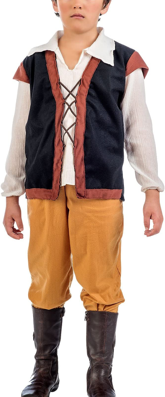 Elbenwald Traje Medieval Bauer 2 pcs. Bragas de la Camisa con Chaleco: Amazon.es: Juguetes y juegos