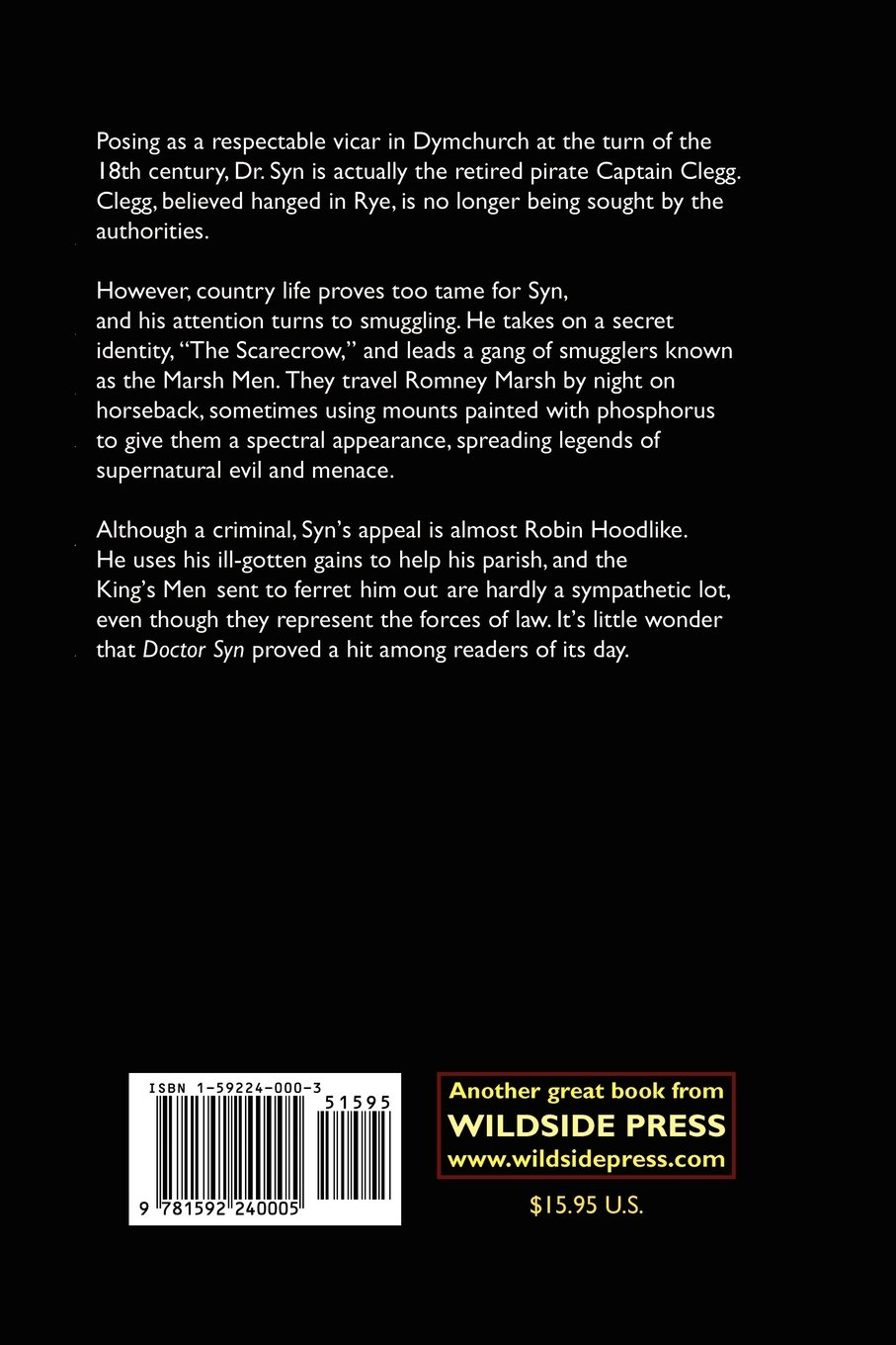 Doctor Syn: A Smuggler Tale Of The Romney Marsh: Russell Thorndyke:  9781592240005: Amazon: Books