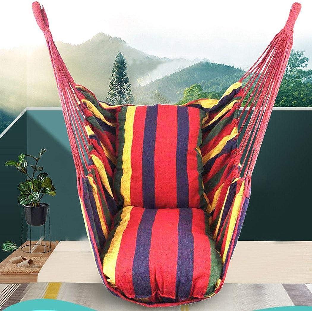 Vpicuo Canvas Swing Chair Hanging Rope Chair Garden Indoor Outdoor Hammocks