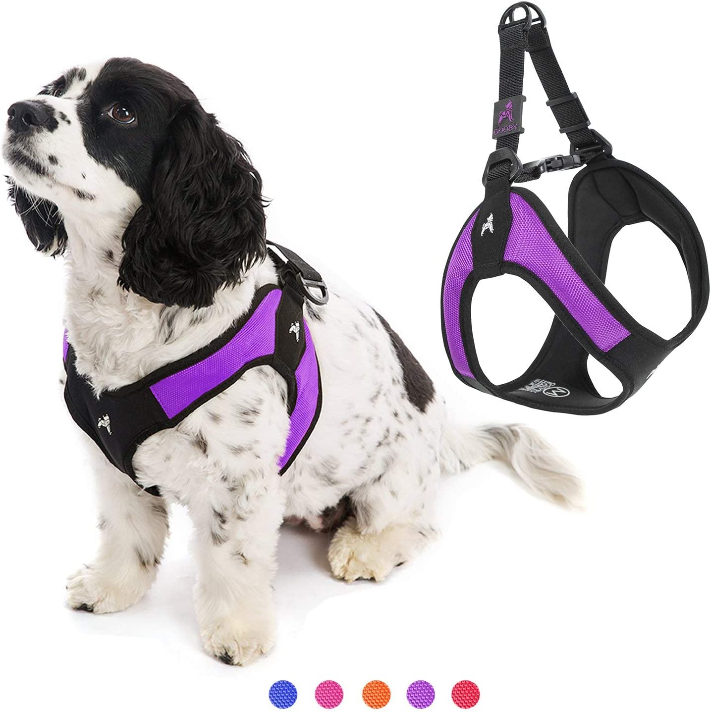 Amazon Com Gooby Dog Harness Purple Small Escape Free Easy Fit Patented Step In Small Dog Harness Perfect On The Go No Pull Harness For Small Dogs Or Cat