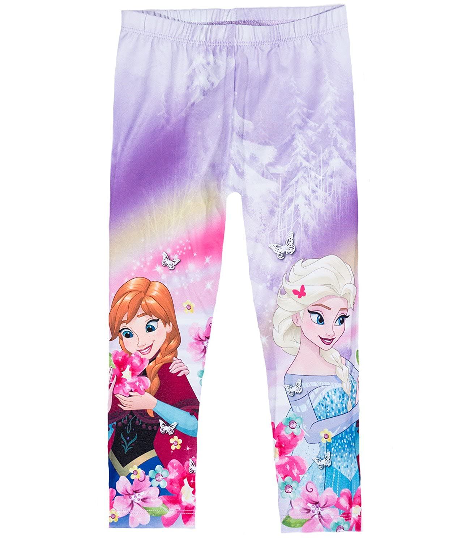 Disney Die Eiskönigin Elsa & Anna Mädchen Caprihose - lila