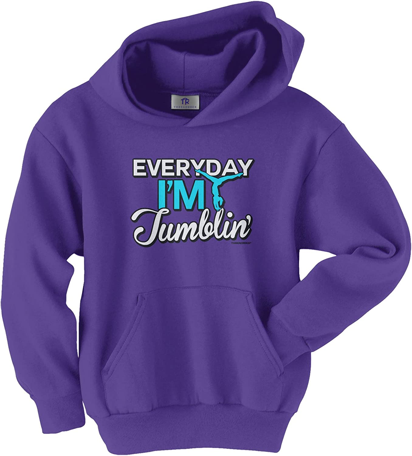 Threadrock Girls Everyday I/'m Tumblin Toddler T-shirt Gymnast Gymnastics