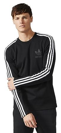 39cf2a928f2 Amazon.com: adidas Originals Men's Curated Crew Neck Ls Tshirt XS ...