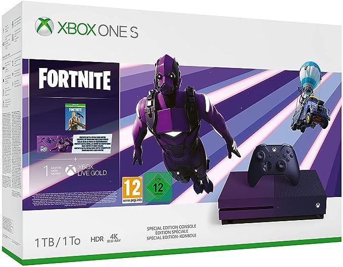 Microsoft Xbox One S - Consola de 1 TB + 1 Mando Morado + Game ...