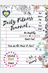Daily Fitness Journal (Lined White Cover Kids Fun Exercise Guide Log Book) Paperback